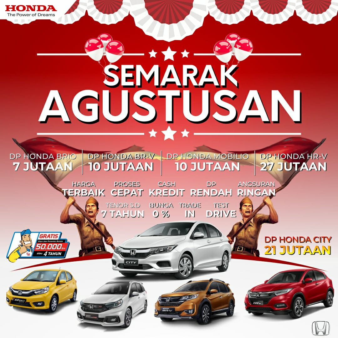 Banner Gebyar Semarak Agustusan Promo Honda Karanganyar