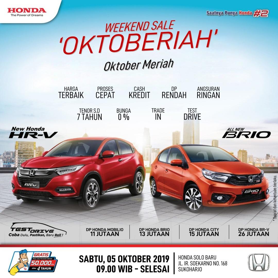 Promo Oktober Meriah Di Honda Karanganyar